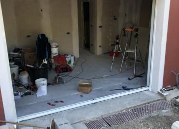 Installation baie coulissante alu Sanary - Sud Alu