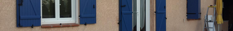 Pose de fenêtre et porte-fenêtre PVC pour une maison - Sanary sur mer