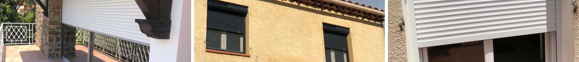 Pose de volets roulants électriques Somfy Sud Alu - Toulon - Brignoles - Six Fours (83)